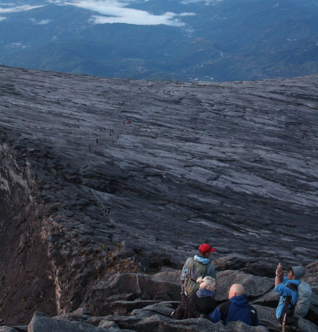 Going down Mount Kinabalu