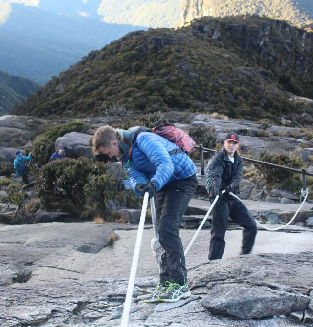 Rope section of Mount Kinabalu