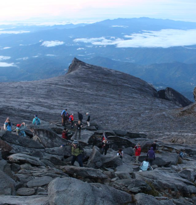 On route to Summit Mount Kinabalu